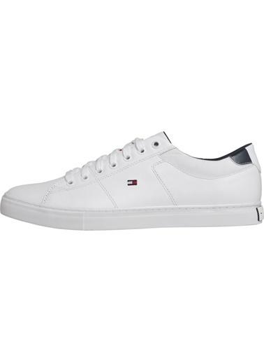 Tommy Hilfiger Erkek Essentıal Leather Col Sneakers FM0FM02577 Beyaz